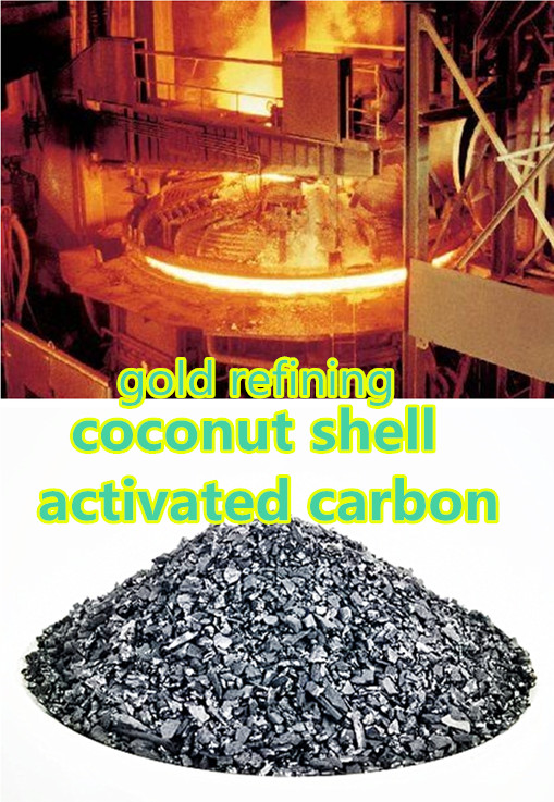 Coconut shell charcoal as gold recovery machine materials