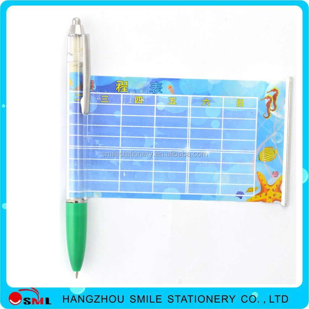 promotional stationery flashlight banner pen