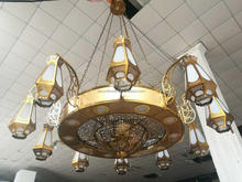 Decorative islamic design hanging large chandelier
