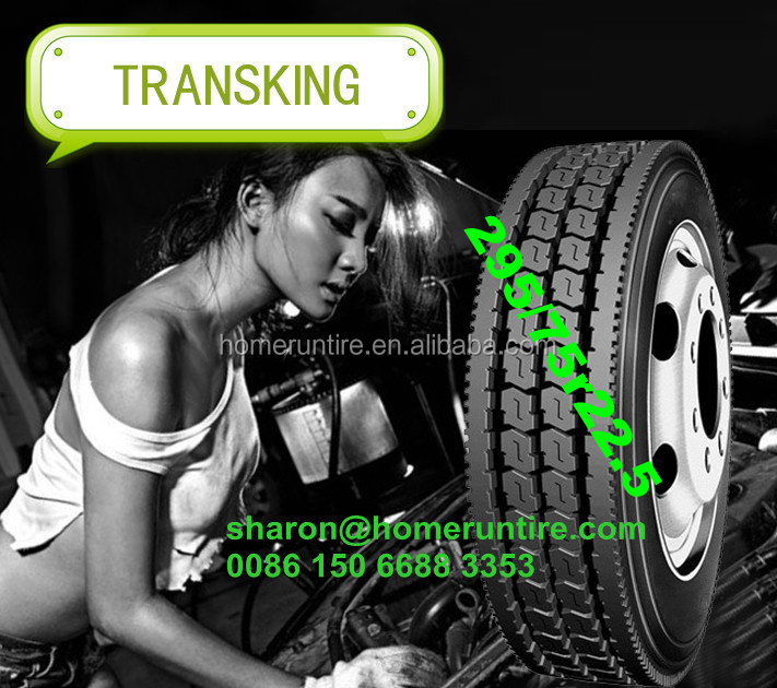 USA Popular Sizes TRANSKING Brand Semi Truck Tires 11r 22.5, 295/75r 22.5 truck tires for sale with DOT,Smartway,PLI
