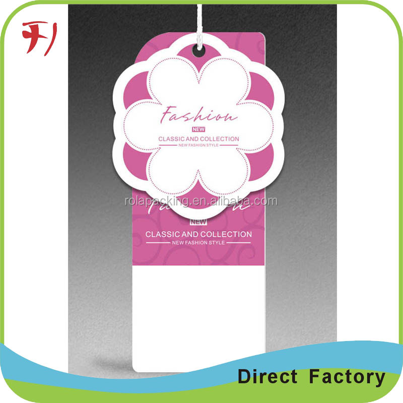 Fashion design Hair paper card printed in the packaging box & hair extension hang tag