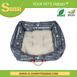 Luxury wooden dog bed pet bed