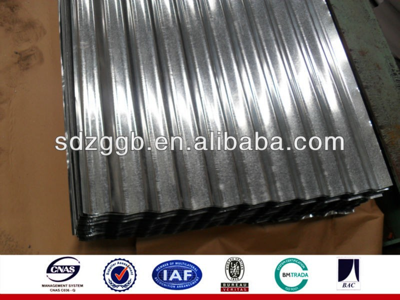 galvanized corrugated steel sheet for roofing tile