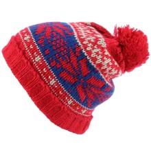 Custom Made Beanie With Pom Jacquard Winter Ski Custom Beanie Hats