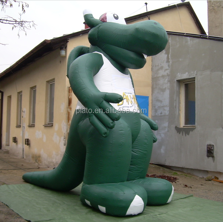 Hot Sell green inflatable giant dragon model for outdoor event / advertising