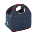 Fashion Women Insulated Oxford Lunch Bag Cotton Blue Portable Thermal Lunch Box for Kids Food Cooler Bags Tote