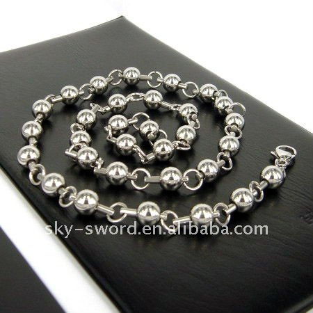 Stainless Steel Bead Necklace Locket(SSN-034)