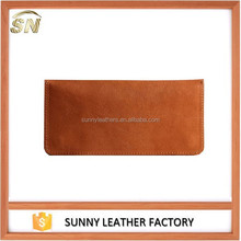 2015 Factory direct bulk selling brown genuine leather wallet/casual leather men wallet