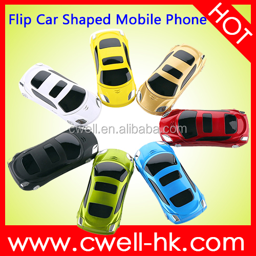 Car Shaped flip outdoor dual sim cell phone NEWMIND F15 7 car model mobile phone
