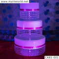 2017 birthday cake stand cake decoration,3 tiered with hanging crystal decorates weddings decoration party decoration(CAKE-001)