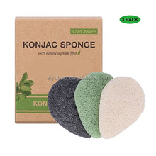Konjac Facial Sponge Natural Activated Bamboo Charcoal Face Cleansing Exfoliating Sensitive Skin Body Massage Tools for Women