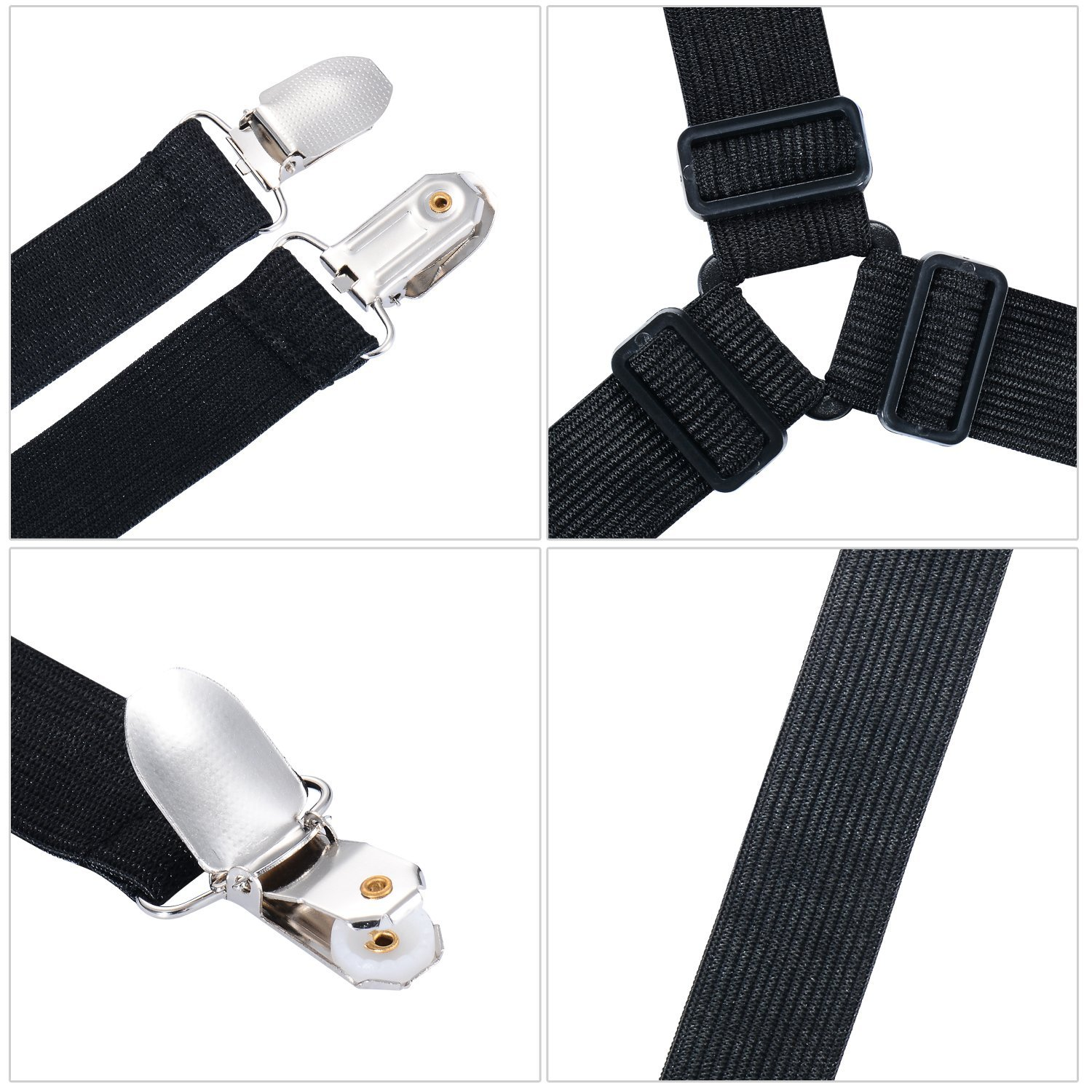 8 pcs Adjustable Bed Sheep Fasteners Suspenders Have Duty Bed Sheet Grippers Suspenders Holder Band Straps Clips Fasteners