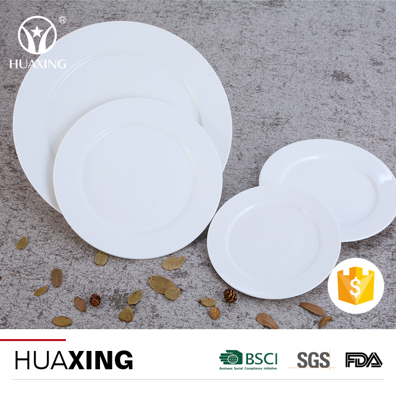 Alibaba hot sell white ceramic dinner induction dishes serving plates for restaurant