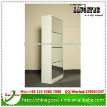 melamine MDF mirror shoe cabinet ,mirror shoe cabinet with coat rack