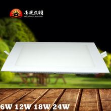 CE 9W 12W 15W 18W Flat 4' 6' Recessed Round LED Panel Light Down Light Driver In A Junction Box forAustralia American