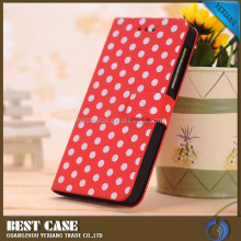 cheap price cute design leather case for blackberry z10, wallet leather case with card solt