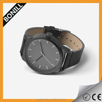 New arrival sport genuine leather hand watch ,popular custom men watches luxury