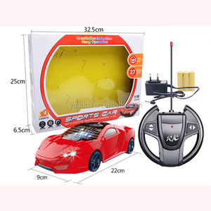 Perfect Kids Gift 1:18 Scale 4 Channel Gravitation Induction Hang Operation 3D Lights Remote Control Sports Car