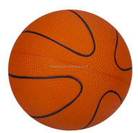 custom printed PU basketball/promotional stress basketball type/promotional basketball toy style