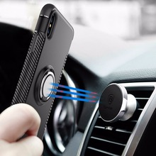 2017 New 360 Degree Rotatable Ring Finger Holder Stand Hybrid Case For Iphone X
