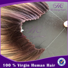 High Quality Ombre Hair Weaves Flip in Halo Hair Extension