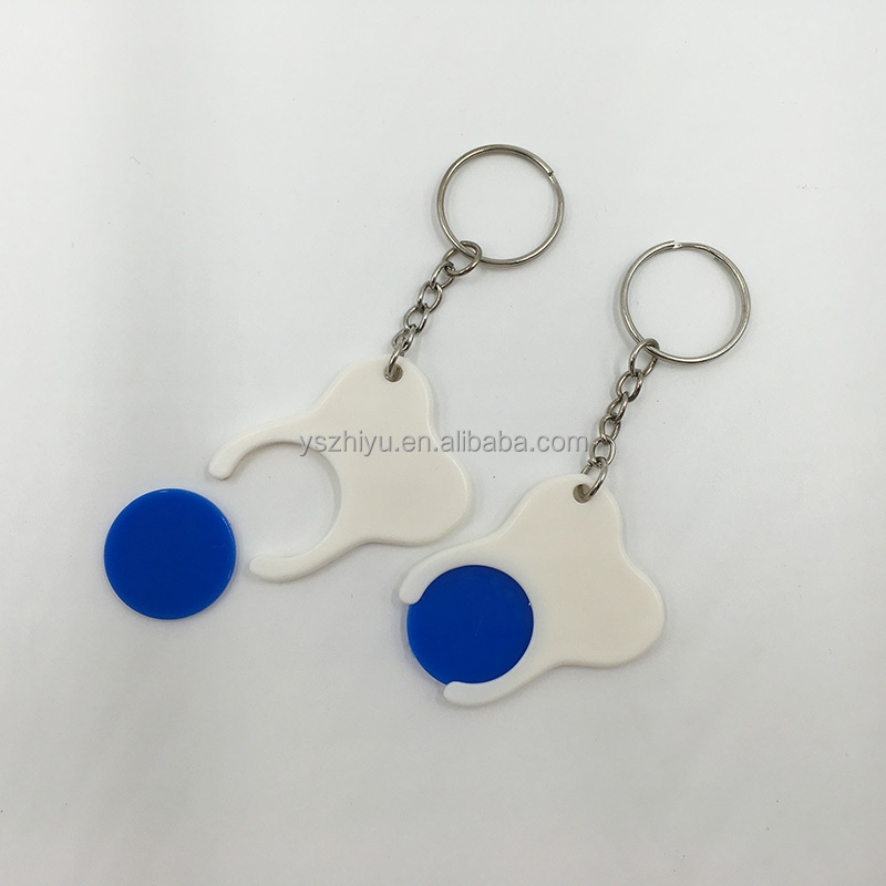 Customized Supper Market Trolley Coin Keyring