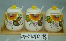 ceramic tea coffee sugar container