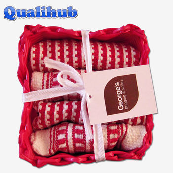 gift 100%cotton yarn dyed kitchen towel set