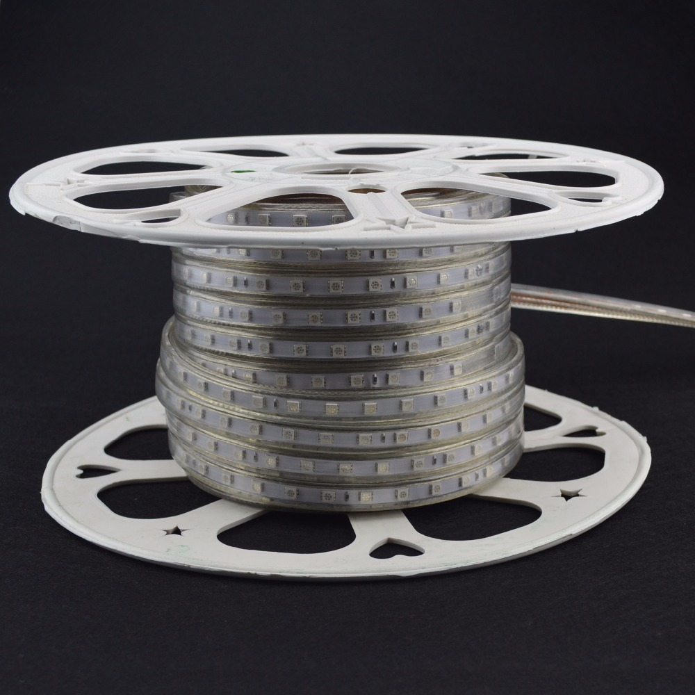 wholesale 8mm width warmwhite <strong>100</strong>/roll led strip light 220-240v for home and christams decoration