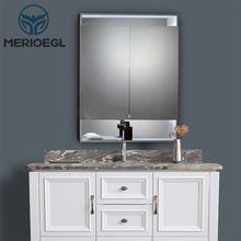 European and American style bathroom lighting over mirror cabinet with sink