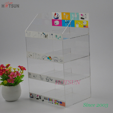 Clear Color Acrylic Display Stand for Mobile Accessories with Stickers