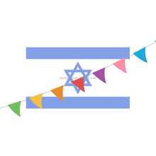 Custom national string flag of Israel country bunting banner flags