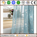 china supplier wholesale beautiful flower embroidered voile curtain