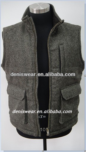 men's woolen canvas vest