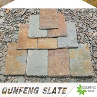 high quality natural rusty color slate stone coated metal roof tile