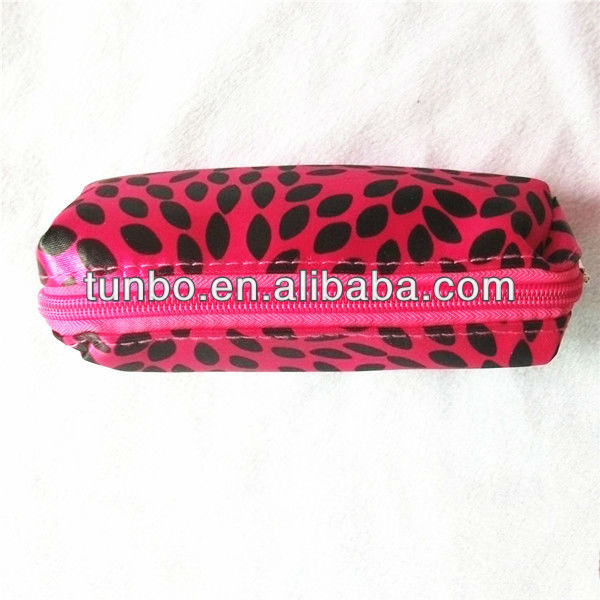New pen case PU leather girls pencil case for students