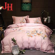 Home textile beautiful flowers cotton bedding set for sale
