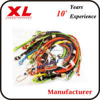 4mm colorful bungee strap with metal hook