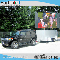 New Design P8 High Brightness Outdoor Truck LED Display, Mobile Truck LED Screen