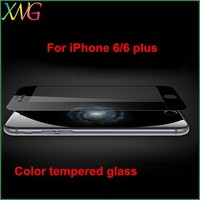 2014 New products premium 9H Anti-shock Mobile phone use Colorful tempered glass film guard for iphone 6 6 plus screen protector