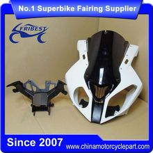FUFBW001A Motorcycle Unpainted Upper Front Fairing With Windshield And Bracket Kit For S1000 2010-2014