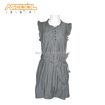 Sleeveless Women's Casual Denim Dress