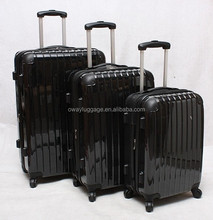 cheap ABS PC 3pcs trolley luggage suitcase set with spinner 4 wheels