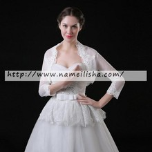 tulle lace bolero shrug long sleeves bride jacket ivory in stock