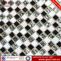 Glass stainless steel mosaic tiles