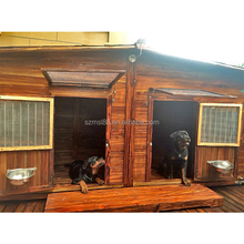 new OEM customized cheap sell waterproof double wooden dog kennel