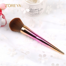 Private Label 1 pcs Oval Rose Gold Makeup Brushes Cosmetic Make Up Brush Set for Makeup