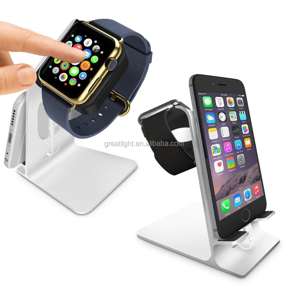 factory price best selling aluminum 2 in 1 multi charging port dock for i watch