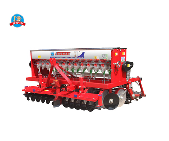 New Nonghaha Brand high quality fertilizer seed drill 2BXF-12 disc wheat seed drill