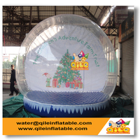 custom size PVC Christmas tree inflatable snow globe for holiday decoration with top quality